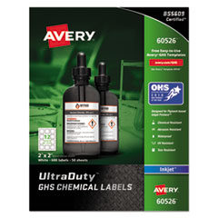 Avery(R) UltraDuty(TM) GHS Chemical Waterproof & UV Resistent Labels
