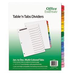 Office Essentials(R) Table 'n Tabs Dividers