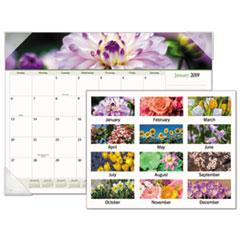 Floral Panoramic Desk Pad, 22 x 17, Floral, 2019