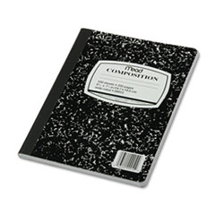 Square Deal Composition Book,Wide Rule, 9 3/4 x 7 1/2, White, 100 Sheets