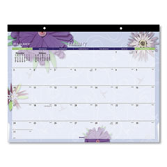 Paper Flowers Desk Pad, 22 x 17, 2020