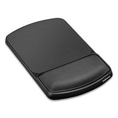 "Gel Mouse Pad with Wrist Rest, 6.25"" x 10.12"", Graphite/Platinum"