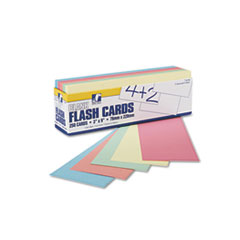 Blank Flash Card Dispenser Boxes, 9w x 3h, Assorted, 250/Pack