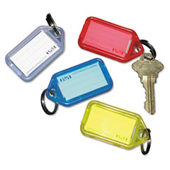 White 10 1//2 x 1//4 x 2 1//2 Plastic 8-Key Color-Coded Key Tag Rack