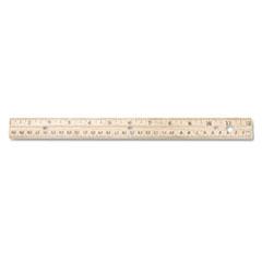 Westcott(R) Three-Hole Punched Wood Ruler