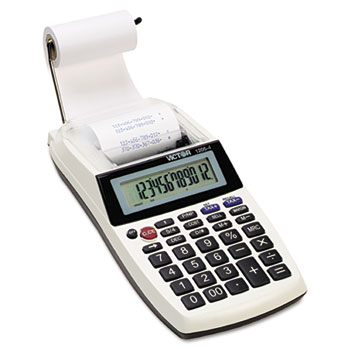 1205-4 Palm/Desktop One-Color Printing Calculator, Black Print, 2 Lines/Sec