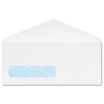 Columbian® Poly-Klear Business Window Envelopes, Securtiy Tint, #10, White, 500/Box