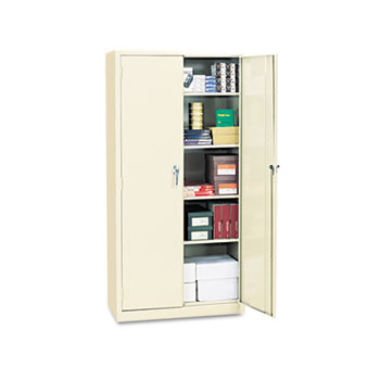 "Assembled 72"" High Storage Cabinet, w/Adjustable Shelves, 36w x 18d, Putty"
