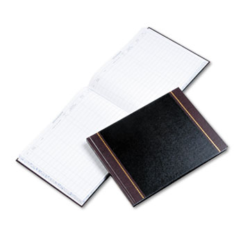 Wilson Jones® Detailed Visitor Register Book, Black Cover, 208 Pages, 9 1/2 x 12 1/2