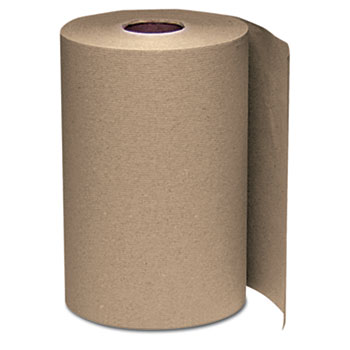 Hardwound Roll Towels, 8 x 350 ft, Natural, 12 Rolls/Carton