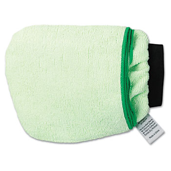 Boardwalk® Grip-N-Flip 10 Sided Microfiber Mitt, 7 x 6, Green