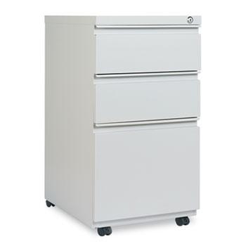 Alera® Three-Drawer Pedestal File With Full-Length Pull, 14-7/8 x 19-1/8, Light Gray
