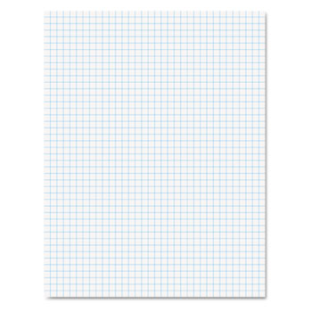 Ampad™ Quadrille Pads, 4 Squares/Inch, 8 1/2 x 11, 20 lb., White, 50 Sheets