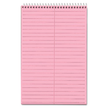 TOPS™ Prism Steno Books, Gregg, 6 x 9, Pink, 80 Sheets, 4 Pads/Pack