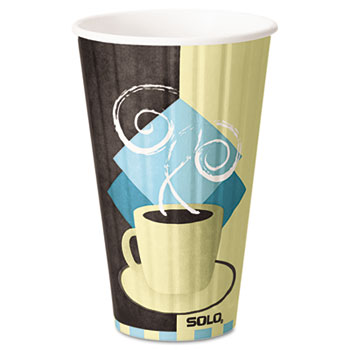 Duo Shield Hot Insulated 16oz Paper Cups, Beige, 525/Carton