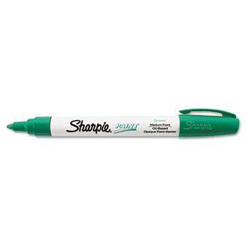 Sharpie® Permanent Paint Marker, Medium Point, Green