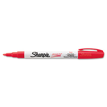 Sharpie® Permanent Paint Marker, Fine Point, Red