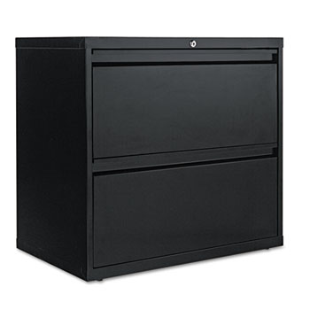 Alera® Two-Drawer Lateral File Cabinet, 30w x 18d x 28h, Black