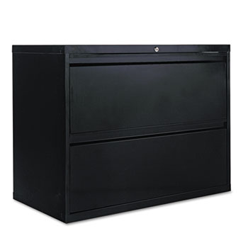 Alera® Two-Drawer Lateral File Cabinet, 36w x 18d x 28h, Black