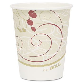 Hot Cups, Symphony Design, 10oz, Beige, 1000/Carton