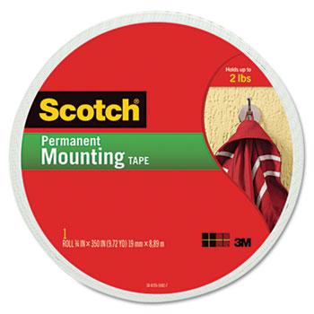"Scotch™ Foam Mounting Double-Sided Tape, 3/4"" Wide x 350"" Long"