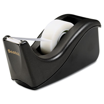 "Scotch™ Value Desktop Tape Dispenser, 1"" Core, Two-Tone Black"