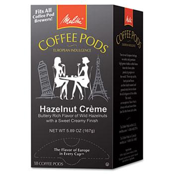 Melitta® Coffee Pods, Hazelnut Cream (Hazelnut), 18 Pods/Box