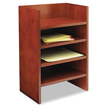 Mira Series Wood Veneer Hutch Letter Tray, 17w x 10d x 22H, Med Chry