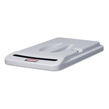 Rubbermaid® Commercial Slim Jim Confidential Document Retrofit Lid Kit, 20 1/2 x 11 3/8 x 2 1/4, Gray