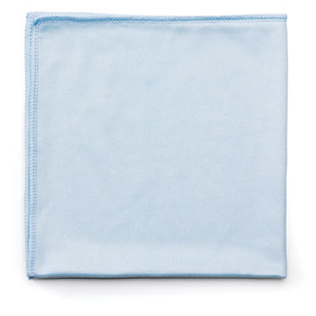 Rubbermaid® Commercial Reusable Cleaning Cloths, Microfiber, 16 x 16, Blue, 12/Carton