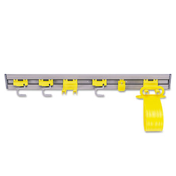 """Rubbermaid® Commercial Closet Organizer/Tool Holder, 34"""" Width, Gray"""
