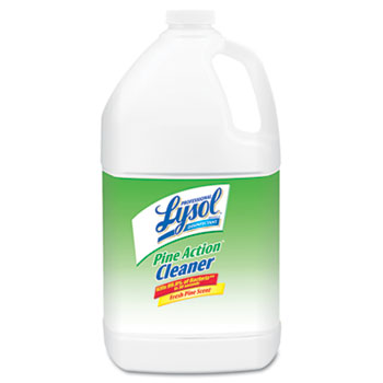 Professional LYSOL® Brand Disinfectant Pine Action Cleaner, Pine Scent, 1 gal Bottle, 4/CT