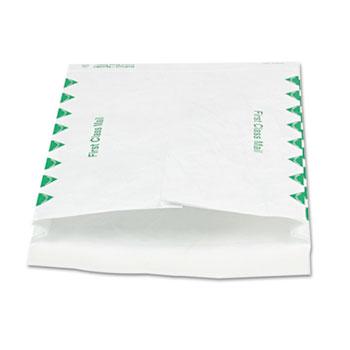 Survivor® Tyvek Expansion Mailer, First Class, 10 x 13 x 1 1/2, White, 100/Carton