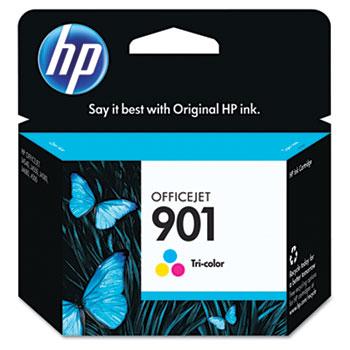 901 Ink Cartridge, Tri-color (CC656AN)
