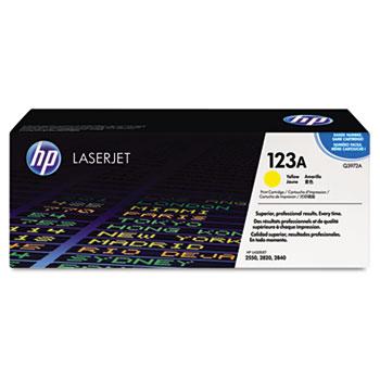 HP 123A, (Q3972A) Yellow Original LaserJet Toner Cartridge