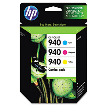 HP 940 Ink Cartridges - Cyan, Magenta, Yellow, 3 Cartridges (CN065FN)