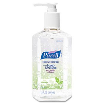 PURELL Advanced Hand Sanitizer Green Certified Gel, 12 oz Pump Bottle, 12/CT