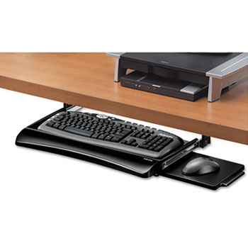 Fellowes® Office Suites Underdesk Keyboard Drawer, 20-1/8w x 7-3/4d, Black