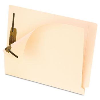 Pendaflex® End Tab Fastener Folders, Two Fastener, Letter, Manila, 50/Box