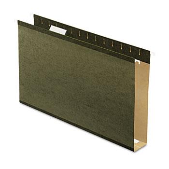 "Pendaflex® Reinforced 2"" Extra Capacity Hanging Folders, Legal, Standard Green, 25/Box"