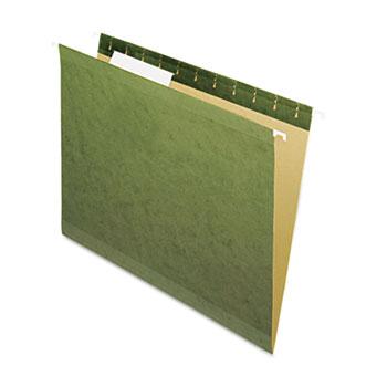 Pendaflex® Reinforced Hanging File Folders, No Tabs, Letter, Standard Green, 25/Box