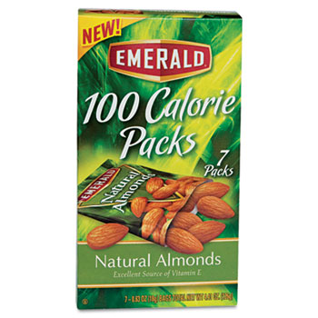 100 Calorie Pack All Natural Almonds, 0.63oz Packs, 7/BX