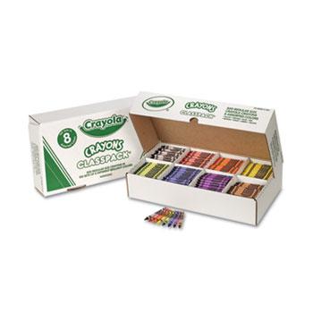 Crayola® Regular Size, 8 Colors, Crayon Classpack, 800/BX