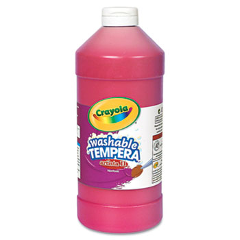 Artista II Washable Tempera Paint, 32 oz., Red
