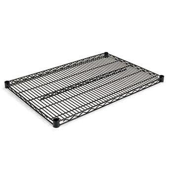 Alera® Industrial Wire Shelving Extra Wire Shelves, 36w x 24d, Black, 2 Shelves/Carton