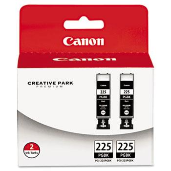 Canon® 4530B007AA (PGI-225) Ink, Black, 2/PK
