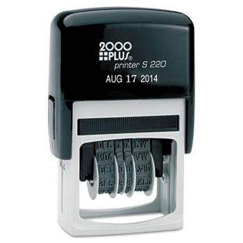 COSCO 2000PLUS® Economy Dater, Self-Inking, Black