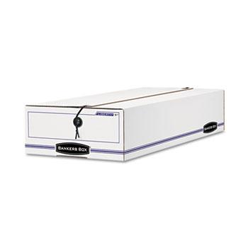 Bankers Box® LIBERTY Check/Voucher Storage Box, 10-3/4 x 23-1/4 x 4-5/8, White/Blue, 12/CT.