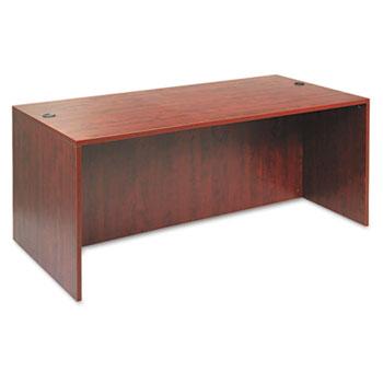 "Alera® Alera Valencia Series Straight Front Desk Shell, 71"" x 35.5"" x 29.63"", Medium Cherry"