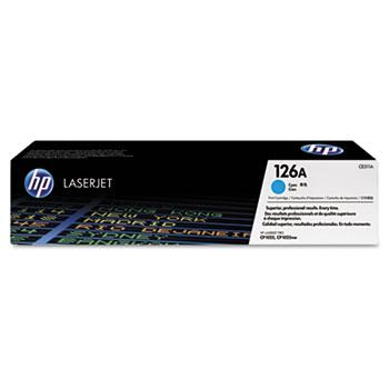 HP 126A (CE311A) Toner Cartridge, Cyan